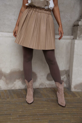 NDP - Look Fake Leather Skirt 3399